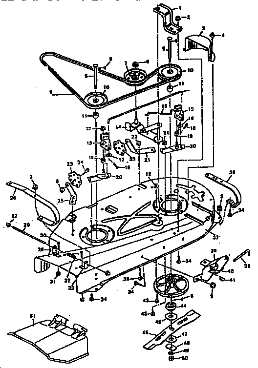 Murray model 403213 mower deck genuine parts