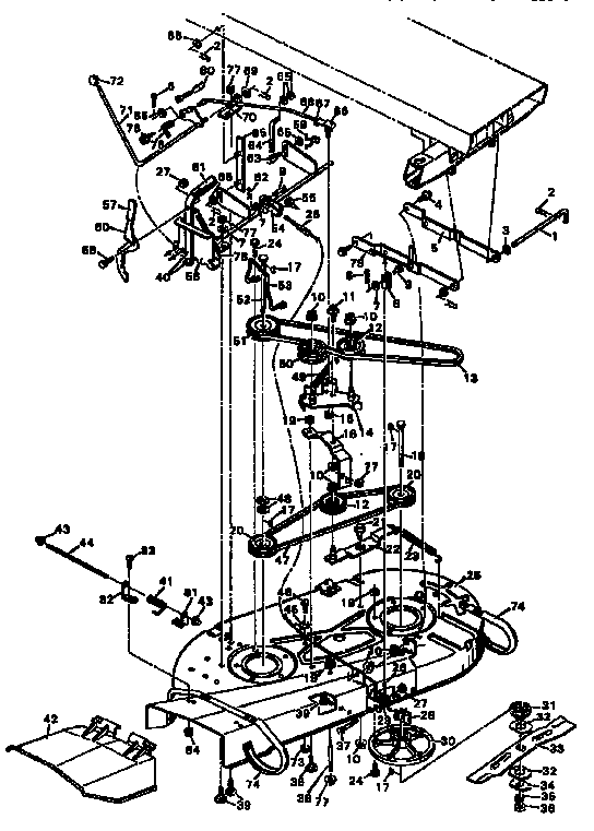 Murray model 403131 mower deck genuine parts