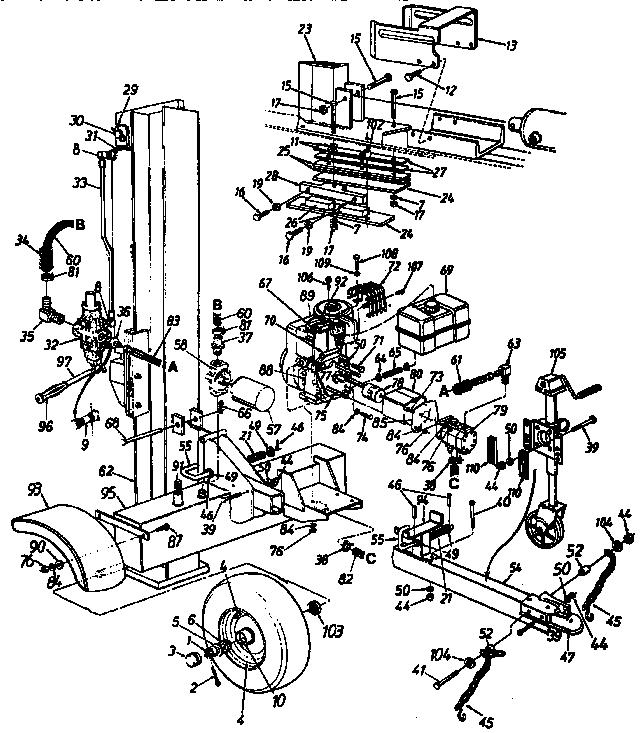 Craftsman model 24734531 log splitter genuine parts