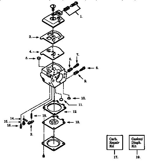 Craftsman model 358356242 chainsaw, gas genuine parts
