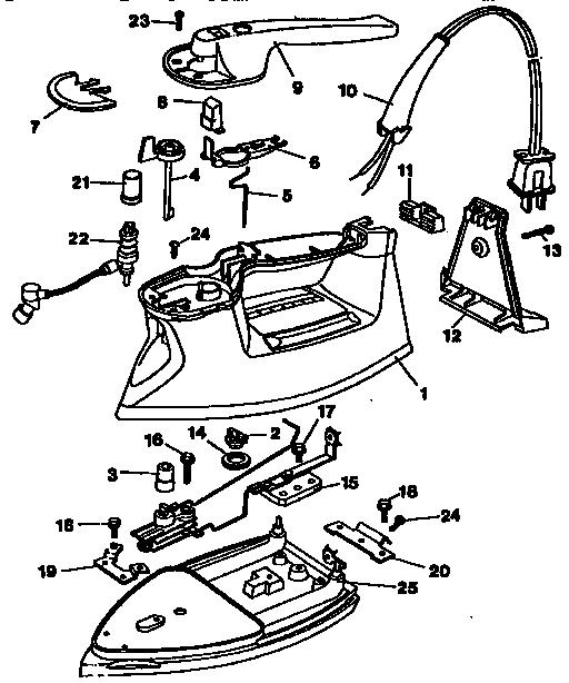 Black-Decker model F364ALSD irons genuine parts