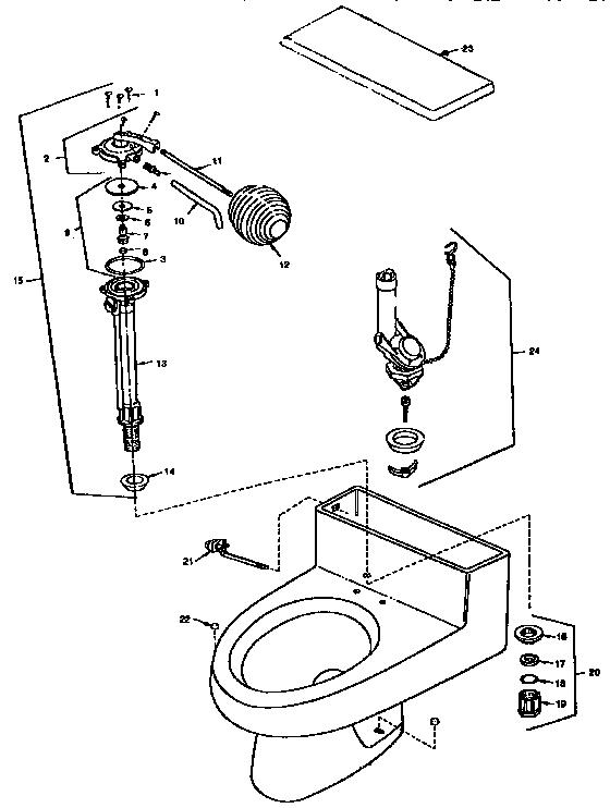 Universal-Rundle model 4022/55196-816 HUNTER GREEN toilet