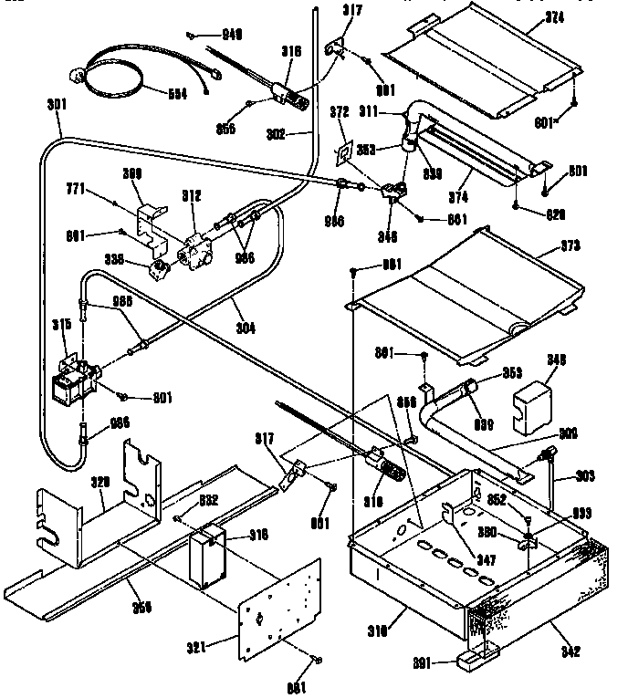 Kenmore model 9113672992 slide-in range, gas genuine parts