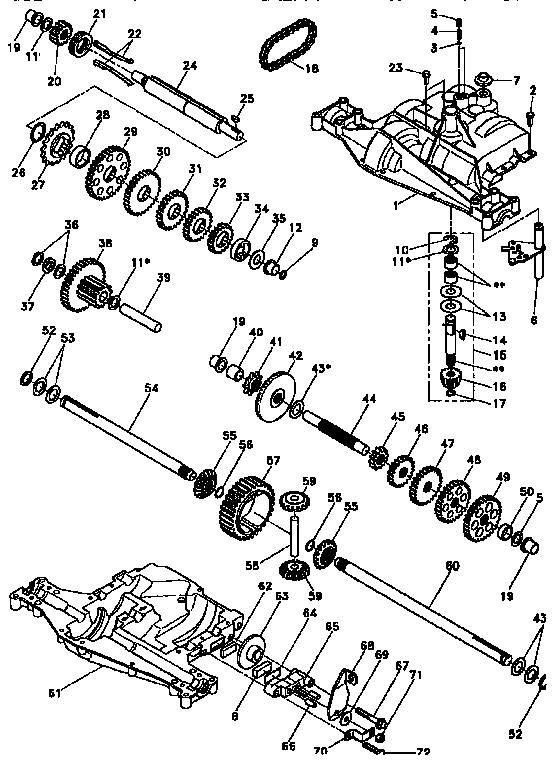Craftsman model 917256451 lawn, tractor genuine parts