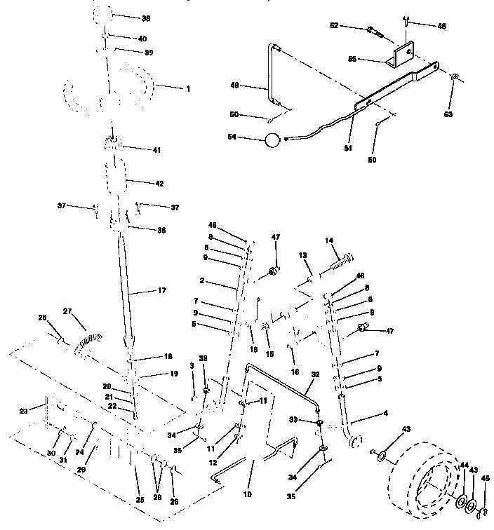 Craftsman model 917257651 lawn, tractor genuine parts