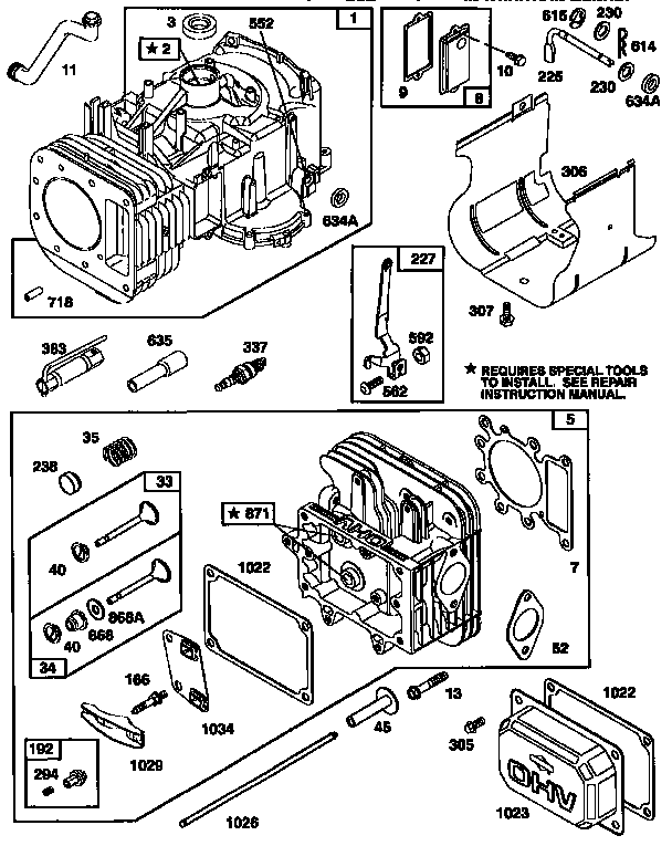 Briggs-Stratton model 28N707-0160-01 engine genuine parts