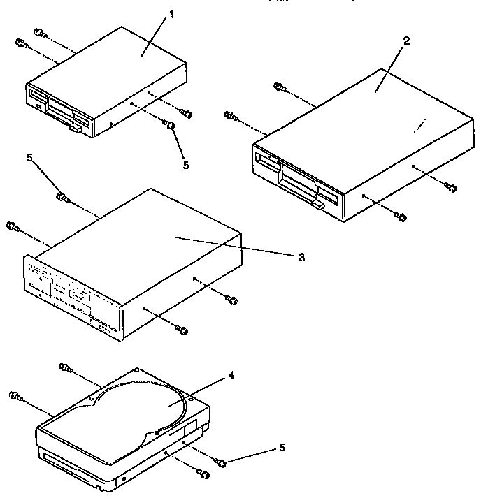 Ibm model PS/1 TYPES 2133A, 2155A, 2168A computer genuine
