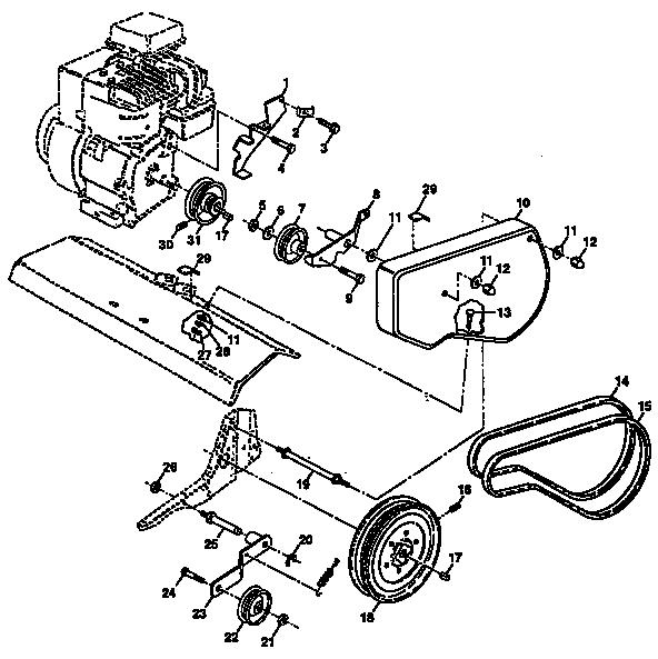 Craftsman model 917297350 front tine, gas tiller genuine parts