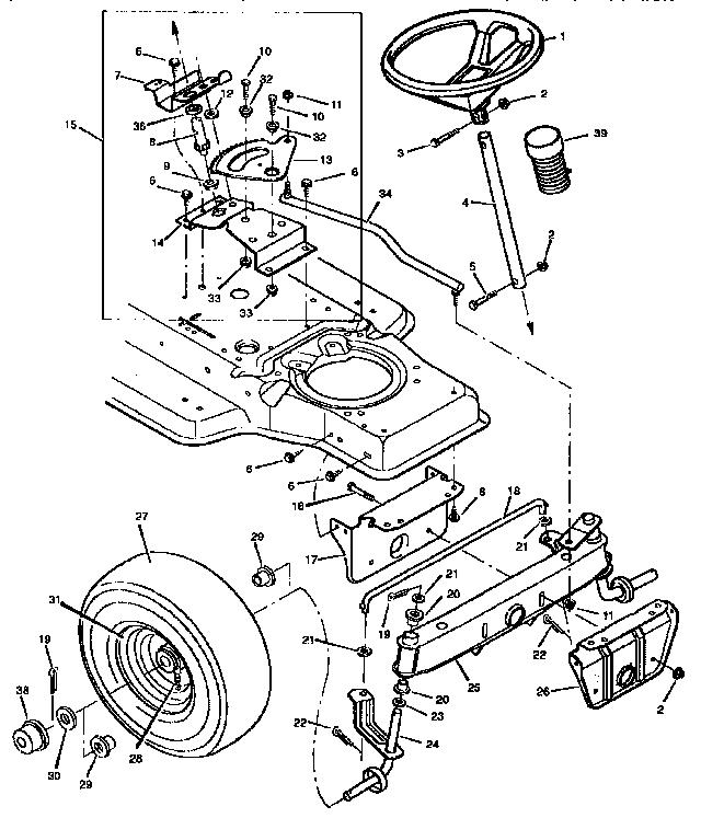 Craftsman model 502255120 lawn, tractor genuine parts