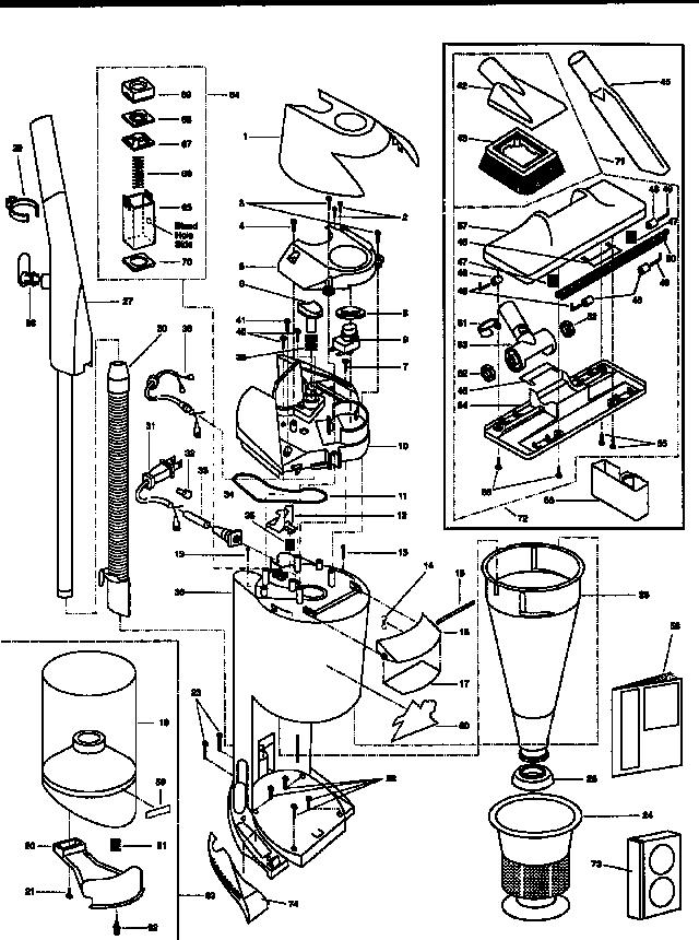 Kenmore model 2043399991 vacuum, upright genuine parts