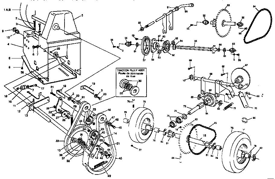 Craftsman model C950-52318-3 snowthrower, gas genuine parts