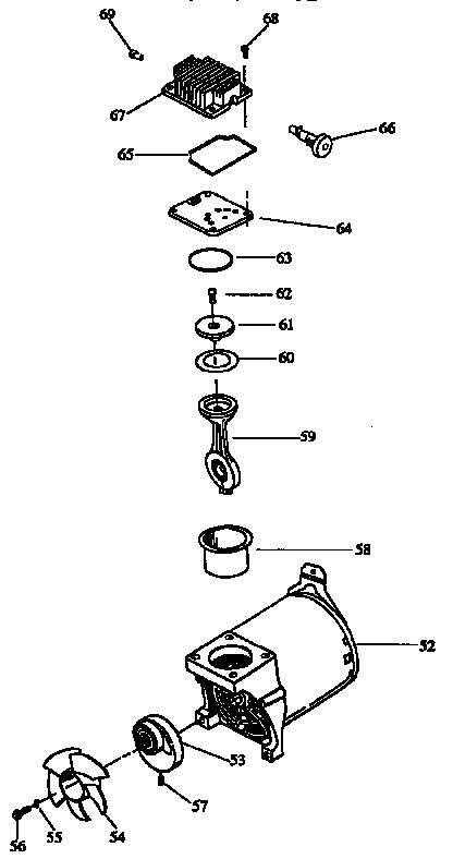 Craftsman model 919155612 air compressor genuine parts