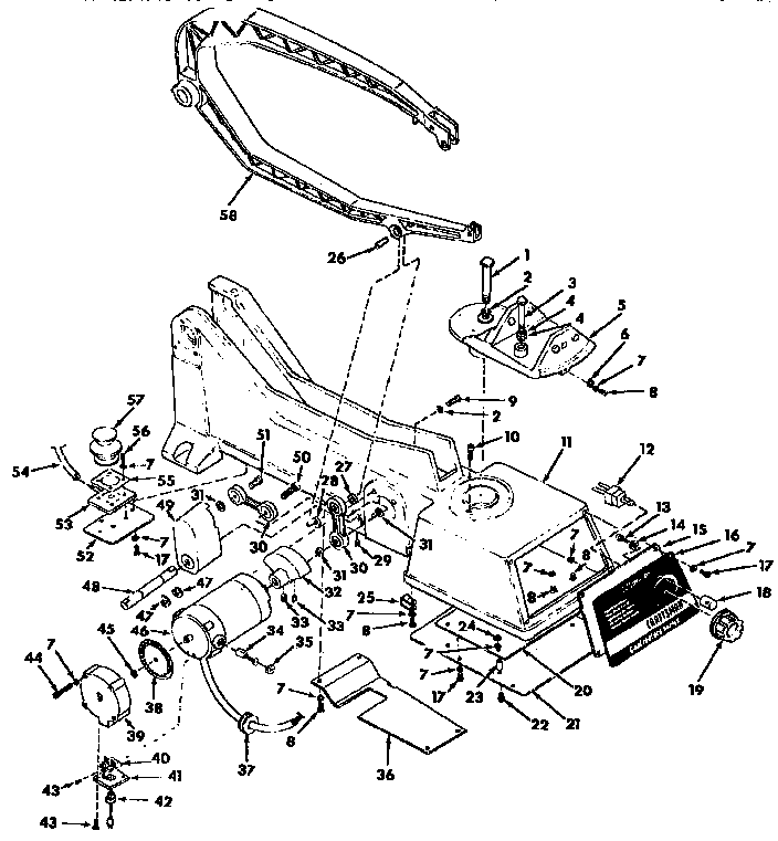 Craftsman model 113236400 saw scroll genuine parts