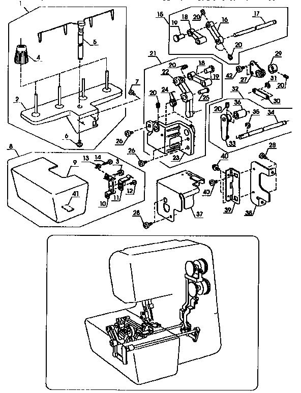 Kenmore model 38516642090 overlock sewing machines genuine