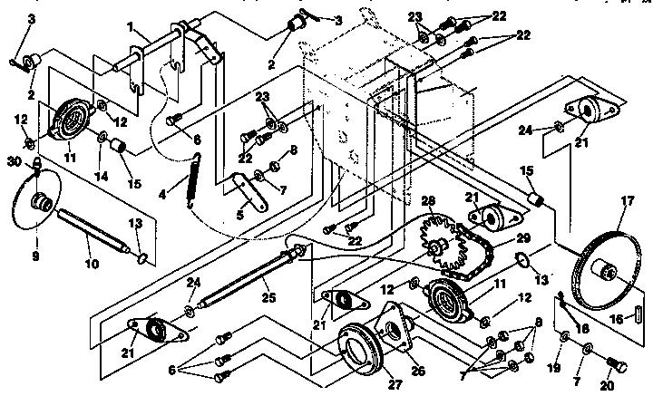 Craftsman model 536886330 snowthrower, gas genuine parts