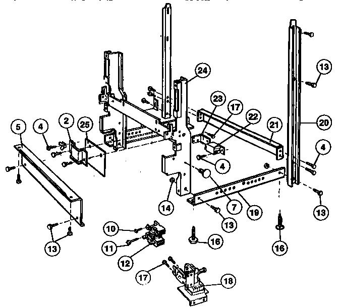 Kenmore model 5871444990 dishwasher genuine parts
