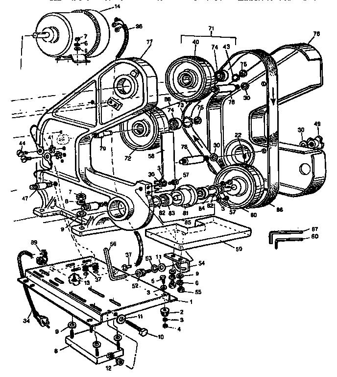 Craftsman model 351226321 sander genuine parts