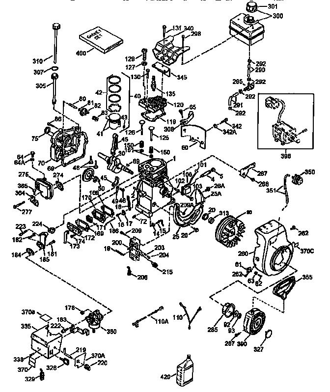 Tecumseh model HSSK50-67317M engine genuine parts