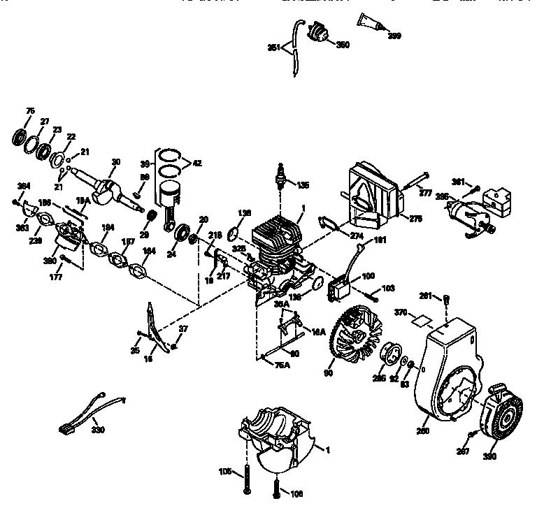 Craftsman model 143955071 engine genuine parts
