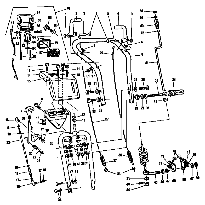 Craftsman model C950-52330-3 snowthrower, gas genuine parts