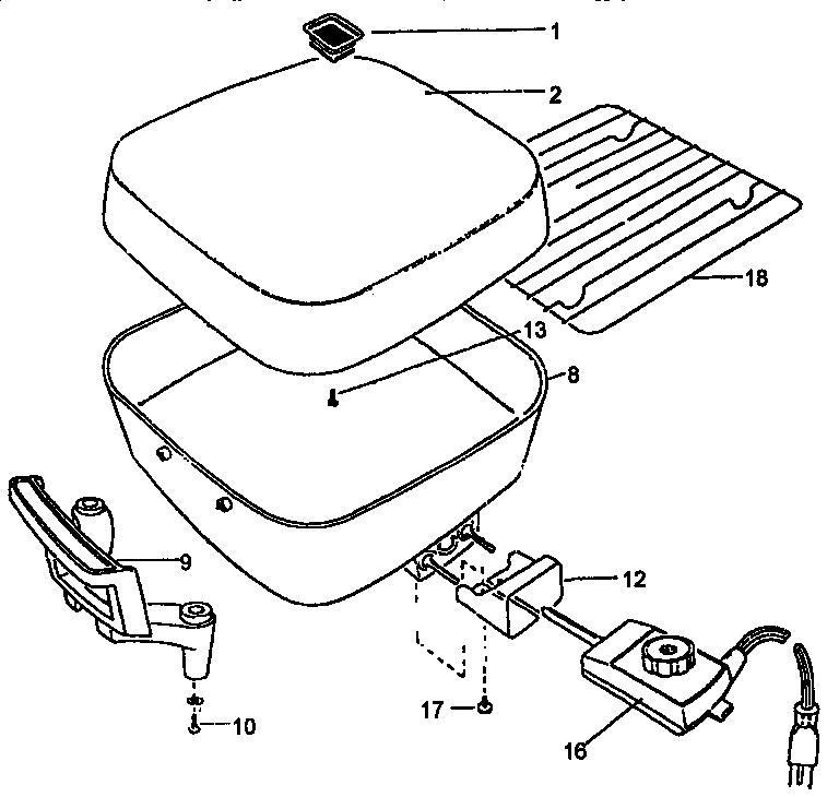 Black-Decker model SK395U electric skillet genuine parts