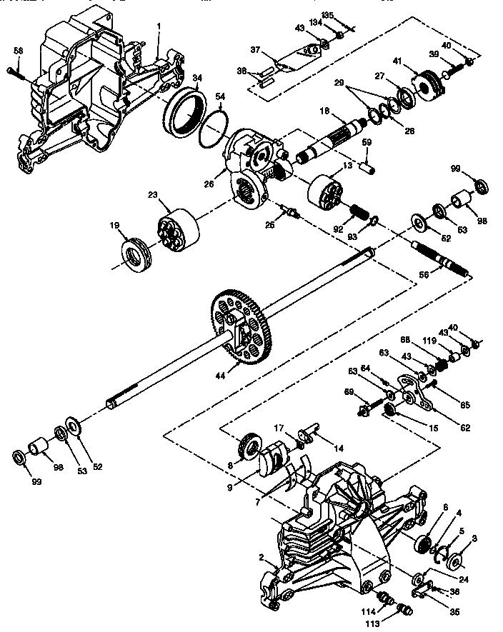 Hydro-Gear model 310-0500 transaxle/transmission, tractor
