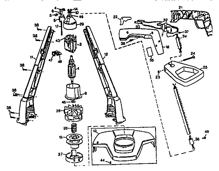 Black-Decker model GE600 line trimmers/weedwackers