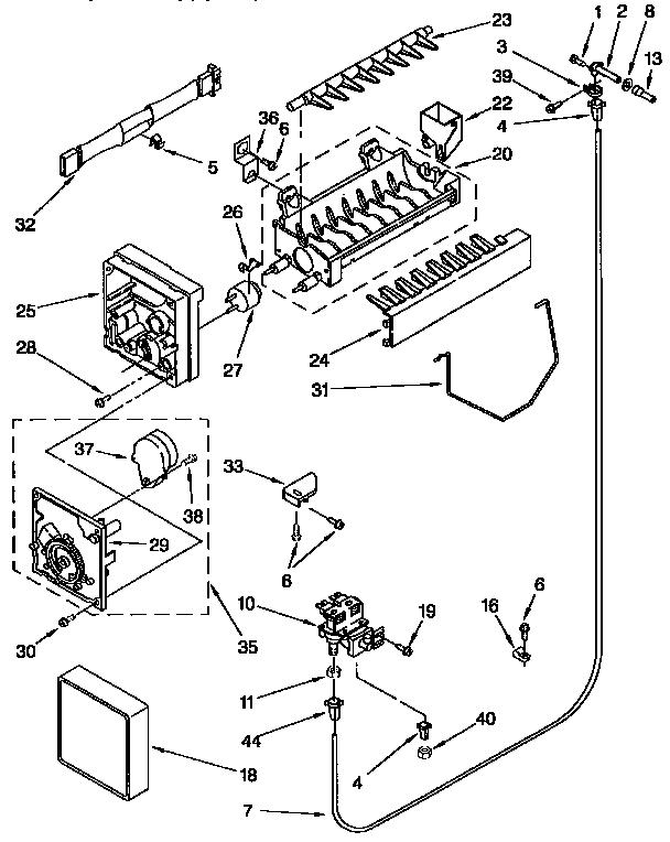 Kenmore model 4317943 ice maker kits genuine parts