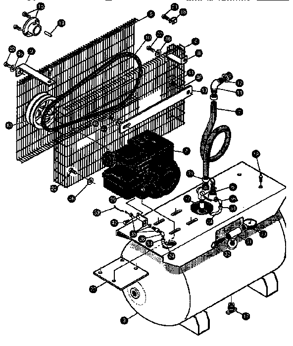 Devilbiss model DACE-7161-1 air compressor genuine parts
