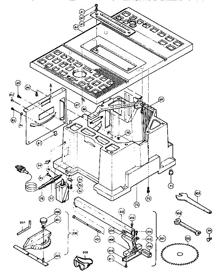 Makita Model 2708 Table Saw