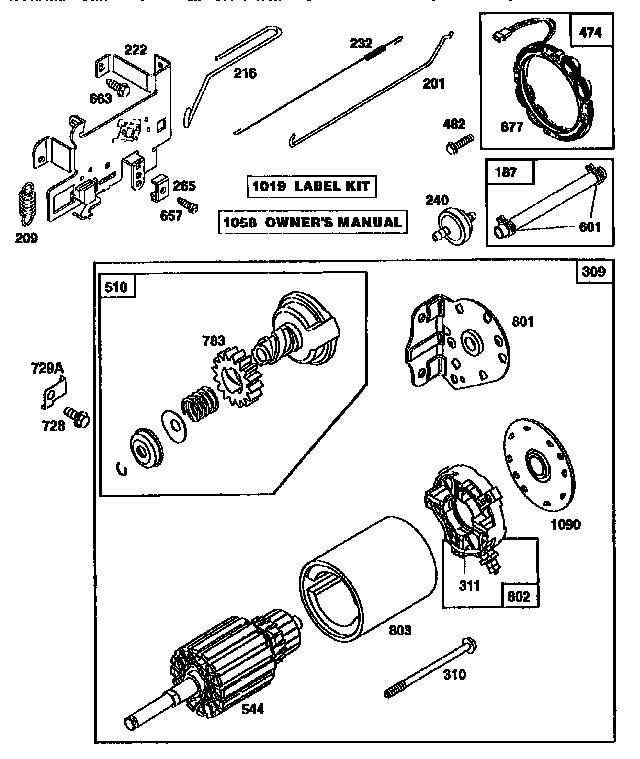 Briggs-Stratton model 28N707-0162-01 engine genuine parts