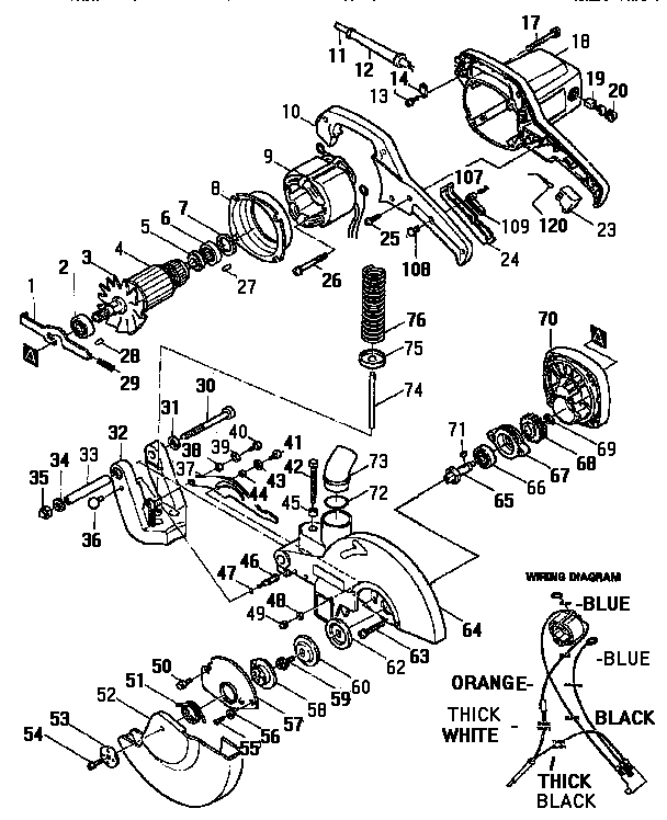Makita model LS1030 miter saw genuine parts
