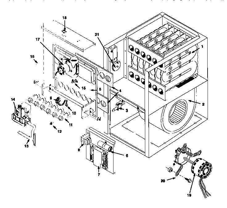 Icp model NUG5050BFB2 furnaces/heaters genuine parts