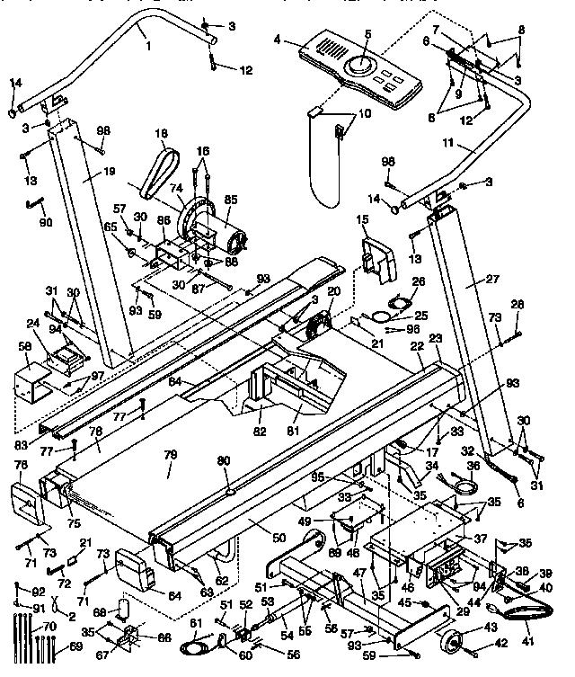 Lifestyler model 831297241 treadmill genuine parts