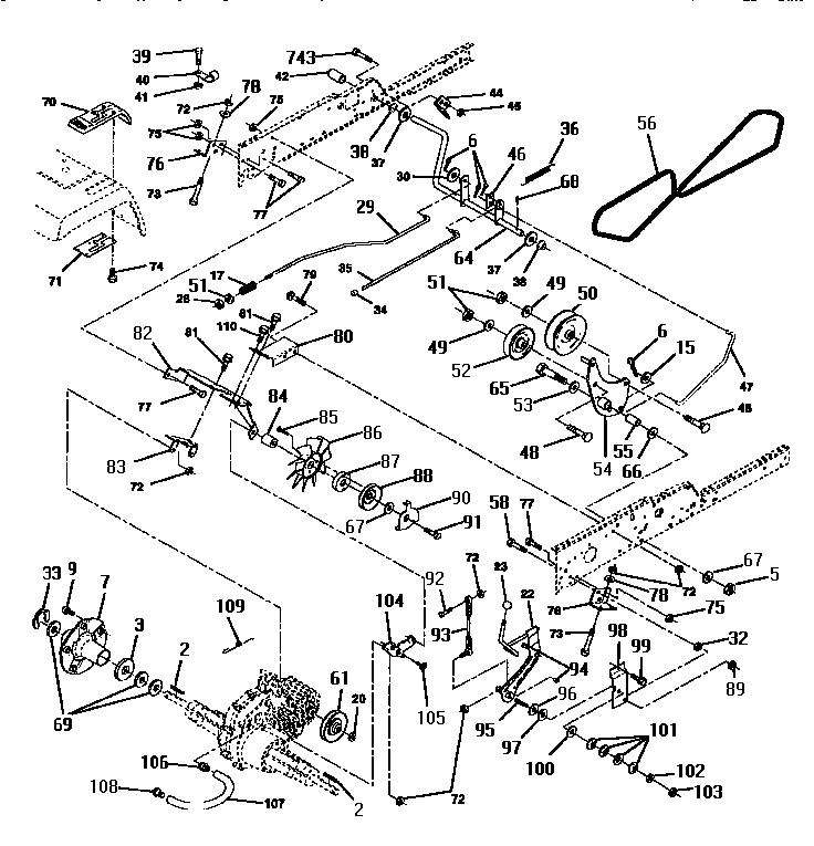 Wiring Diagram Database: Craftsman Gt6000 Drive Belt Diagram