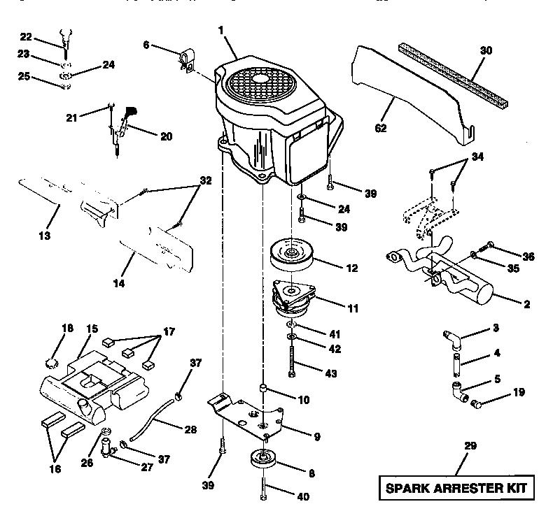 Craftsman model 917250520 lawn, tractor genuine parts