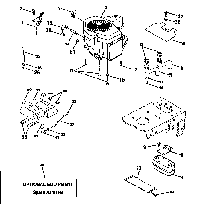 Craftsman model 917252700 lawn, tractor genuine parts