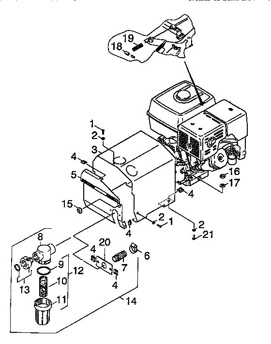 Karcher model HD1050BX power washer, gas genuine parts