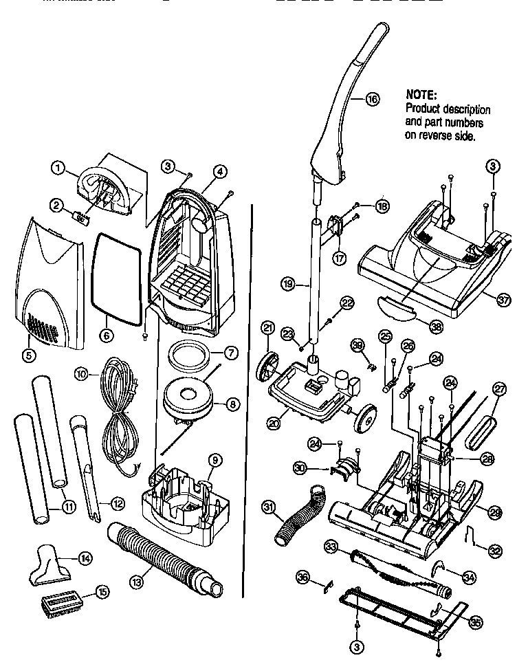 Bissell model 3550 vacuum, upright genuine parts