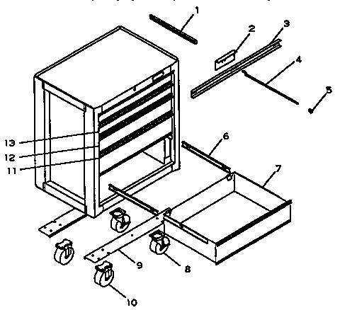 Craftsman model 706650230 cabinet genuine parts