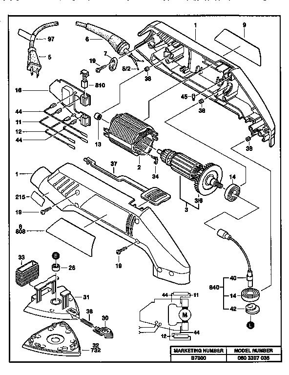 Bosch model B7000 sander genuine parts