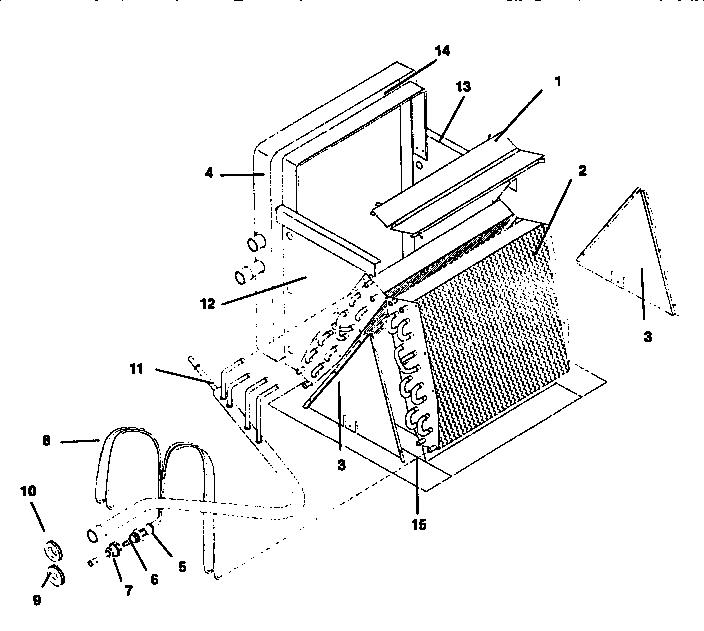 Icp model EPH5530BC1 evaporator coils genuine parts