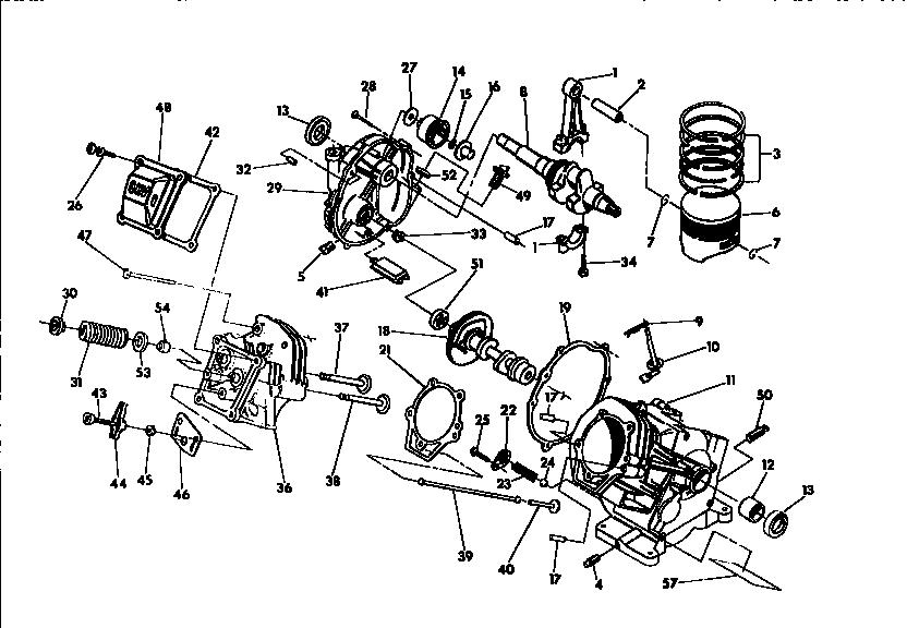 Generac model 9585-4 power washer, gas genuine parts