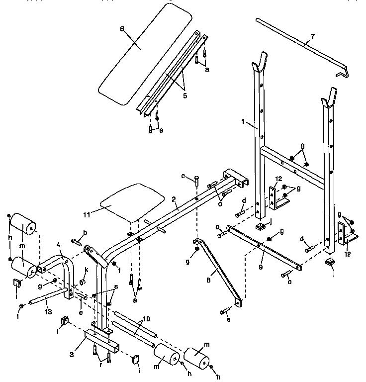 Proform model WB1200 misc exercise genuine parts