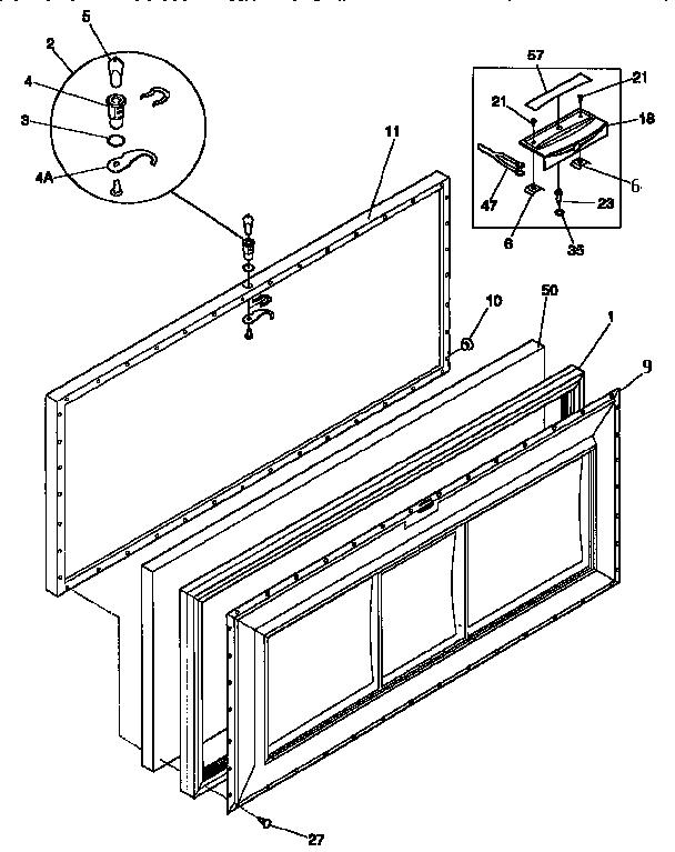 Kenmore model 2539159110 chest freezer genuine parts