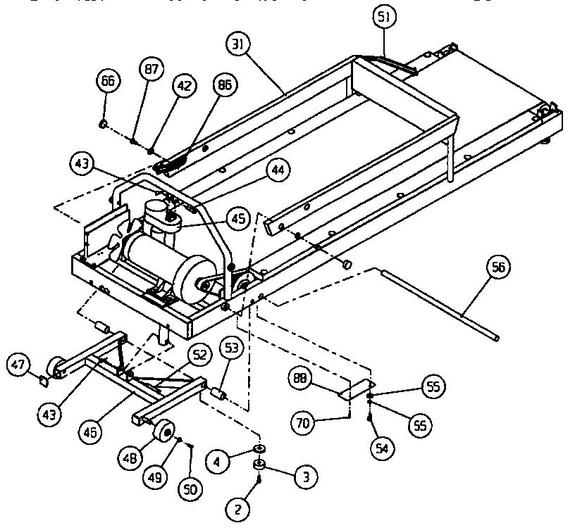 Universal-Multiflex-Frigidaire model 560254 treadmill