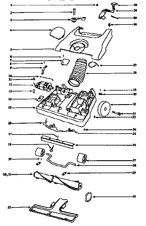Eureka model 6435AT vacuum, upright genuine parts