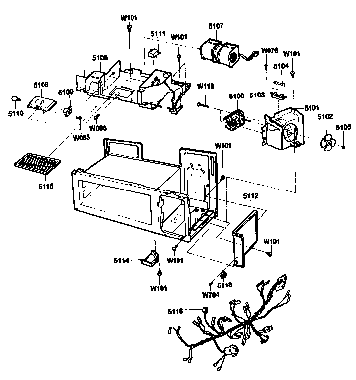 Kenmore model 72189940490 countertop microwave genuine parts
