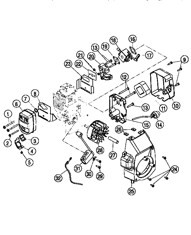 Ryobi model 970R line trimmers/weedwackers, gas genuine parts