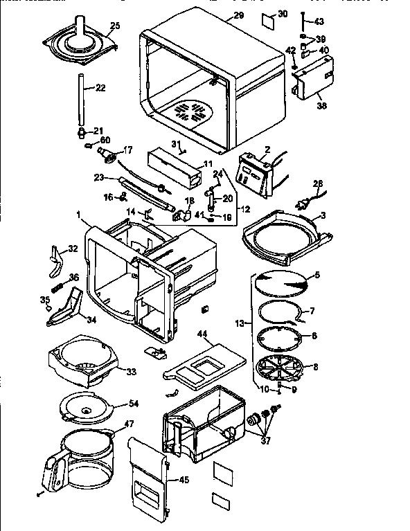 Black-Decker model ODC350 coffee/tea maker genuine parts